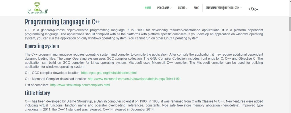 careerdrill Programming language C++